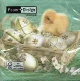 Servetel decorativ 'Beautiful Easter', 33cm