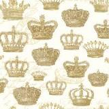 Servetel decorativ 'Crown majesty gold', 25cm