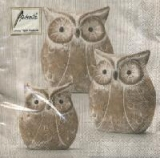 Servetel decorativ 'Owl trio', 33m