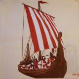 Servetel decorativ 'Viking ship', 33cm