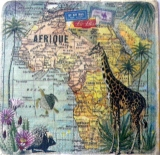 Servetel decorativ 'Travel to Africa', 33cm