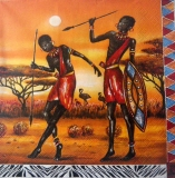 Servetel decorativ 'African warriors', 33cm