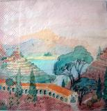 Servetel decorativ 'China landscape', 33m