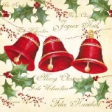 Servetel decorativ 'Three bells', 25cm