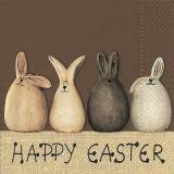 Servetel decorativ 'Happy Easter bunnies', 25cm