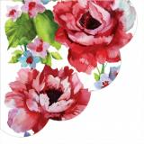 Servetel rotund 'Watercolour roses', 32cm