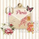 Servetel decorativ 'Lettre de Paris', 33cm