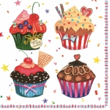 Servetel decorativ 'Muffins', 33cm