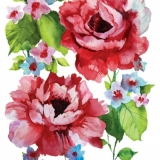 Servetel decorativ 'Watercolor roses', 33cm