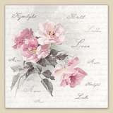 Servetel decorativ 'Wild rose', 33cm