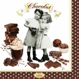 Servetel decorativ 'Vintage chocolate', 33cm