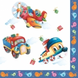 Servetel decorativ 'Kids toys', 33cm
