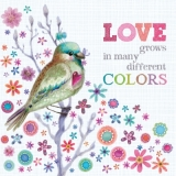 Servetel decorativ 'Love in different colours', 33cm