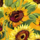 Servetel decorativ 'Girasole bouquet', 25cm