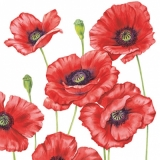 Servetel decorativ 'Romantic poppy', 25cm