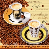 Servetel decorativ 'Coffee time', 33cm