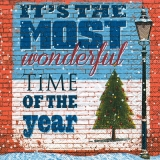 Servetel decorativ 'Most wonderful time', 33cm