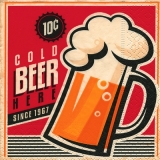 Servetel decorativ 'Cold beer', 25cm