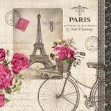 Servetel decorativ 'Velo Parisien', 25cm