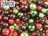 Set de margele, imitatie perla, 'Autumn mix', 100g