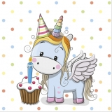 Servetel decorativ 'Baby unicorn', 33cm