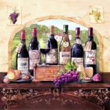 "Servetel decorativ ""Degustation des vino"", 33cm"
