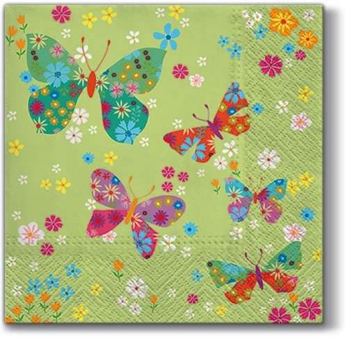 Servetel decorativ 'Butterflies around', 33cm