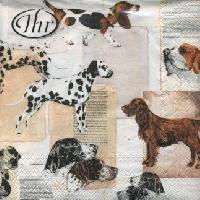 Servetel decorativ 'Best dog breeds', 33cm