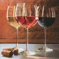 Servetel decorativ 'World of wine', 33cm