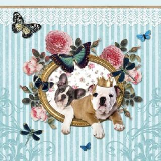 Servetel decorativ 'Royal dogs', 33cm