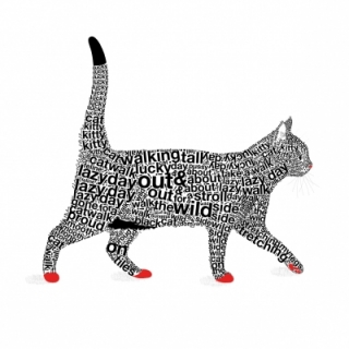 Servetel decorativ 'Top cat', 33cm