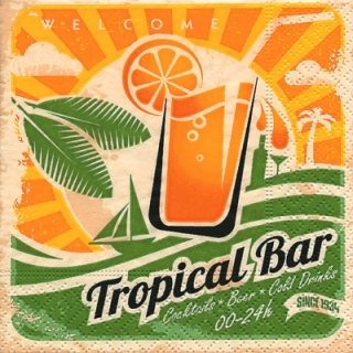 Servetel decorativ 'Tropical bar', 25cm
