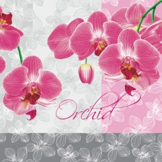 Servetel decorativ 'Rose orchid', 33cm