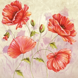 Servetel decorativ 'Poppies', 33cm