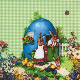 Servetel decorativ 'Easter idyll' 33cm